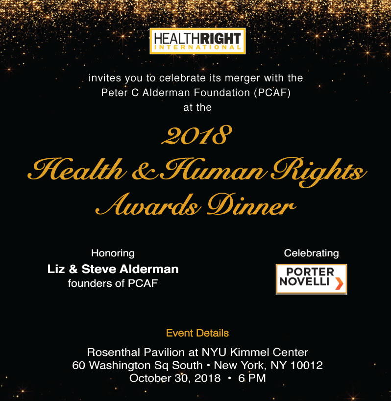 HealthRight International - 2018 Health & Human Rights Award Dinner
