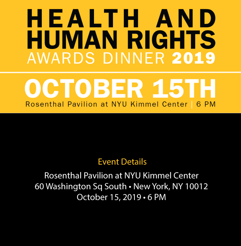 HealthRight International - 2019 Health & Human Rights Award Dinner